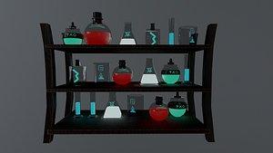 3D Wizard Bottles