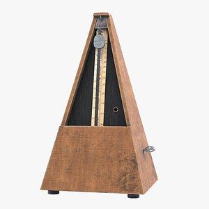 3D Antique Metronome