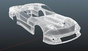 3D rx7 scoot body kit model