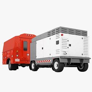 3D Service Truck Cabin 08