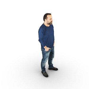 man standing model