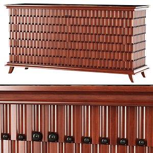 3D model Minotti Collezioni chest of drawers