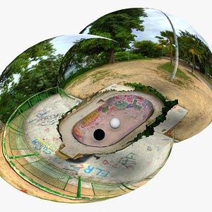 Skate Pool 02 Scan with Graffiti Rio de Janeiro 3D
