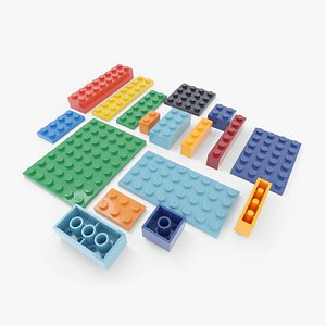 3D model lego bricks set