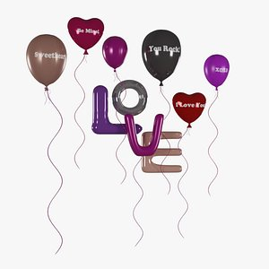 balloon valentines 3D model