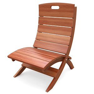 chair wooden wood model