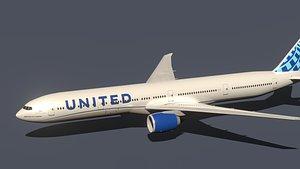 boeing 777-300er united model