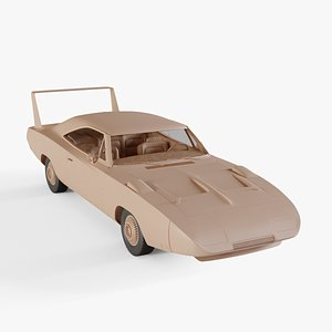3D 1969 Dodge Charger Daytona model