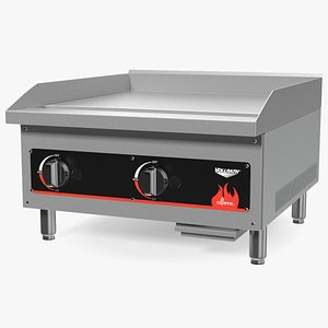 Vollrath 40720 Cayenne 24 Flat Top Gas Countertop Griddle 3D