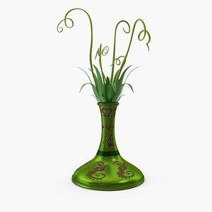 flower pot green 3D model