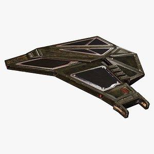 3D model Wing Frame D