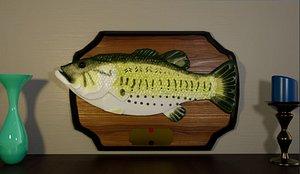 Rigged Singing Fish model