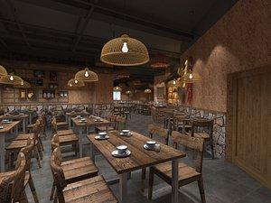 3D Chinese Restaurant 2 model