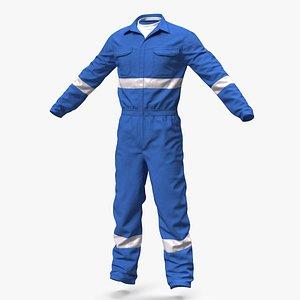 Oil Field Worker Suit 3D