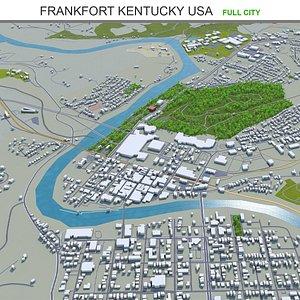 3D Frankfort Kentucky USA