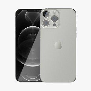 3D Apple iPhone 13 Pro Silver