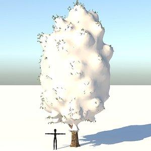 3D poplar tree