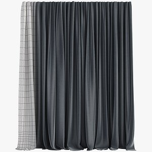 3D Curtain    Polygons 8245 model