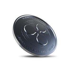 ripple coin crypto 3D model