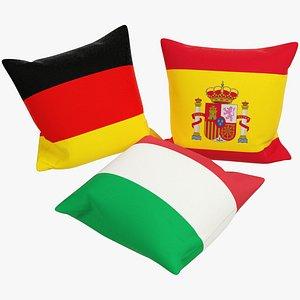 3D model Flags Pillows V4