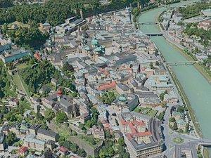 salzburg city 3D model