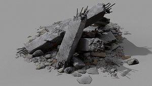 3D model Ruin Debris Rubble 05