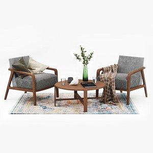 cozy furniture set 3D
