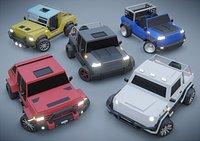 customizable jeep car Low-poly