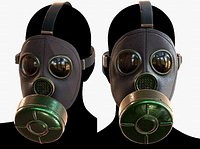 Gas mask protection plastic Black 3D