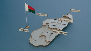 provinces state cities 3D model