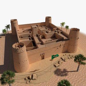 Masmak Fortress model