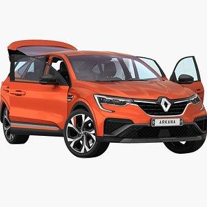 Renault Arkana 2022 Opening doors and trunk 3D