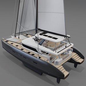 3D model 3D Catamaran Lagoon 77 SEVENTY  7