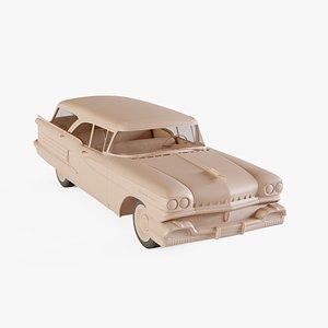 3D 1958 Oldsmobile Dynamic 88 Fiesta Holiday StationWagon model