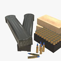 5-7x28 Ammo Pack Low-poly model