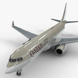 3D boeing 737-8 qatar airways