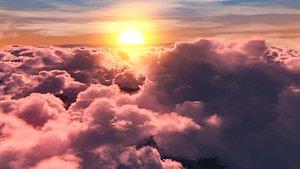 3D clouds romantic model