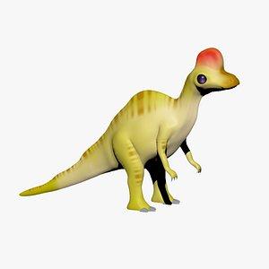 Corythosaurus Cartoon Dinosaur for 3D Print 3D model
