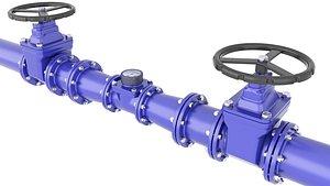 Water Pipe Water Meter Valve 25 model