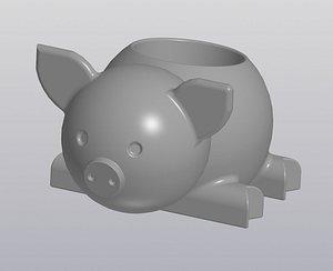 Flowerpot Pig 3D model