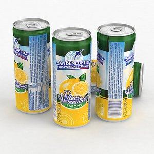 3D Beverage Can San Benedetto Prima Spremitura Limone 330ml Tall 2021