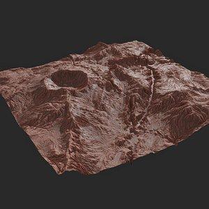 8K Detailed Planet Landscape 3D