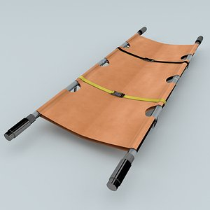 3D model rolling stretcher
