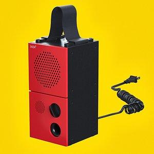 3D closeup ikea frekvens speaker model
