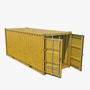 3D container 20 ft model