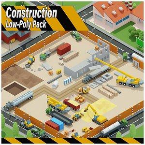 Construction Low Poly Assets City 3D model
