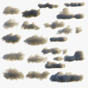 3D 20 Moving Volumetric Clouds for Blender