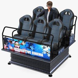 3D Virtual Reality 7D with Teenage Boy