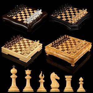 3D Exclusive chess set 1 model
