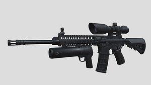 Assault riffle Defender2000 3D